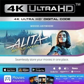 ALITA BATTLE ANGEL 4K ULTRA HD MOVIES ANYWHERE DIGITAL CODE ONLY