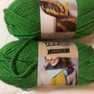 Two (2) 100%acrylic yarns. 3 1/2 Oz each. #2
