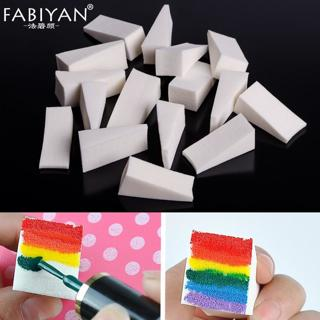 16Pcs Soft Triangle Nail Art Transfer Sponge Gradient Coloring Stamping Stamper Painting Image Sta