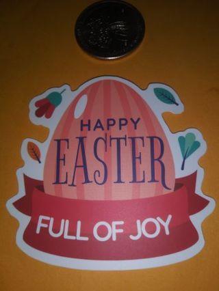 Easter big Saying Nice vinyl sticker no refunds regular mail very nice