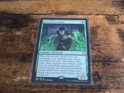 Magic the gathering mtg Rootweaver Druid rare card Commander Legends