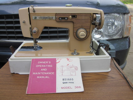 Free Dressmaker Portable ZigZag Sewing Machine WCase Manual Fascinating Dressmaker Special Sewing Machine