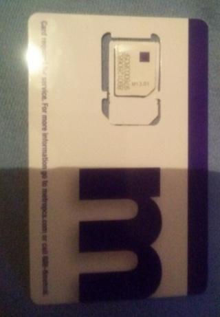 Free: METRO PCS SIM CARD UN-ACTIVATED BRAND NEW UNUSED - Phones