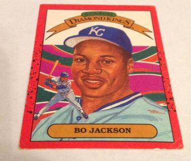 Free 1989 Donruss Diamond Kings Bo Jackson Baseball Card