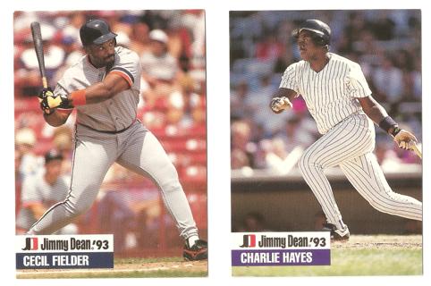 Free 2 1993 Jimmy Dean Baseball Cards Sports Trading