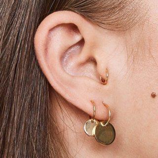6 Pcs/set Personality Punk Exquisite Gold Round Pendant Circle Earrings Set Bohemian Retro Women