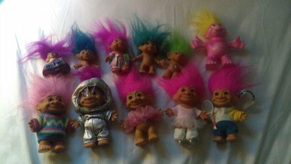 Vintage Troll Lot of 11 (Russ, etc)