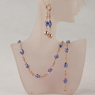 Fashion Crystal African Beads Jewelry Sets Gold Color Wedding Bridal Jewelry Sets Women Necklace