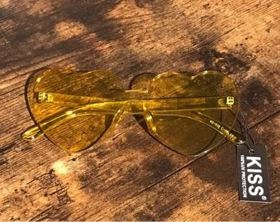 Yellow Heart Love Vintage Inspired Unisex Womens Mens Sunglasses