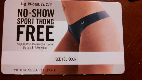 FREE!! VICTORIA SECRET NO SHOW SPORT THONG!!