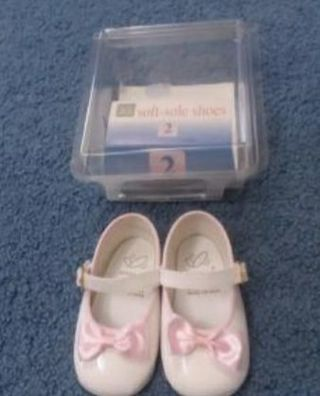 Baby GIRL Shoes, size 2, fits 3-6 mos. NIP