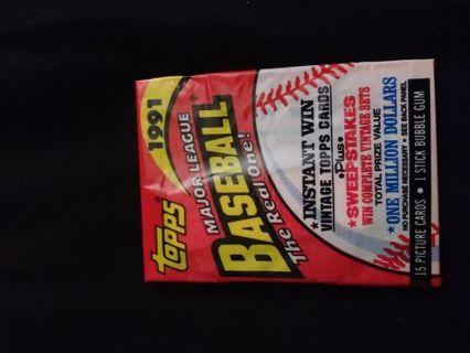 1991 UnOpened Topps Baseball Cards..