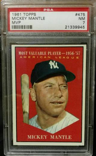 1961 Mickey Mantle Baseball Card