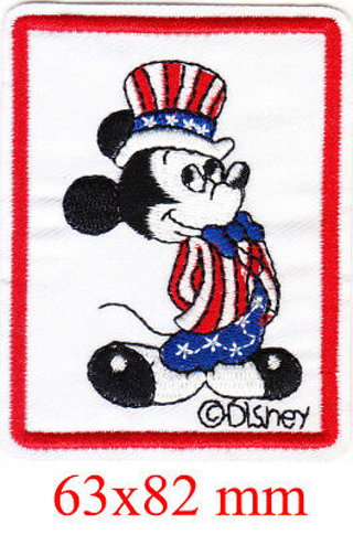 VINTAGE Mickey Mouse IRON ON Patch Clothing Embroidery Applique