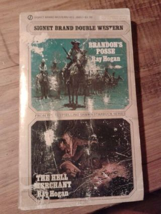 DOUBLE WESTERN BRANDON'S POSSE AND THE HELL MERCHANT BY RAY HOGAN