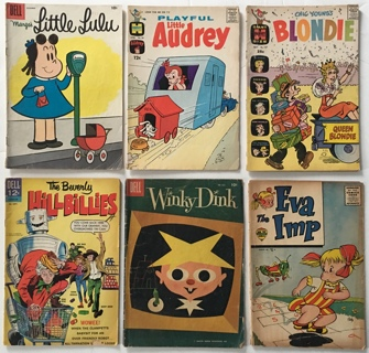 Little Lulu, Little Audrey, Blondie, Eva the Imp, Winky ***** Lot of 6 Golden/Silver Age Comics