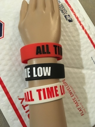 1 New ALL TIME LOW band wristband bracelet band HOT TOPIC punk emo goth pop