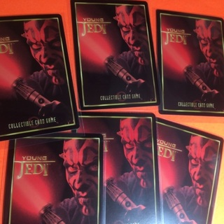 6 Star Wars Young Jedi 1999 Cards!