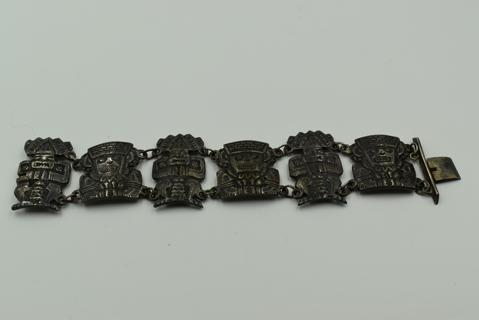 Ugly Aztec 900 Silver Bracelet GIN OBO!