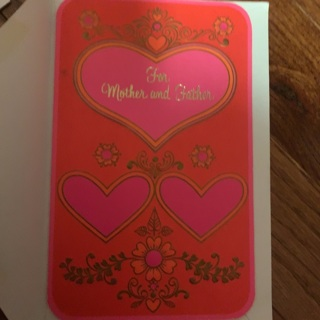 Valentine's Day card for mom and dad