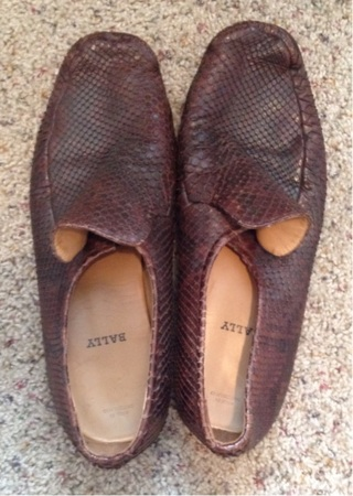 Bally Snake Skin Shoes