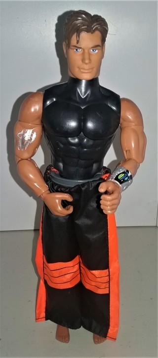 "1998 G.I. Joe MAX STEEL in underwater wet suit - articulated plastic action figure - 11 1/2"" tall"