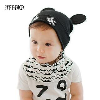 2018 Baby Boys and Girls Hat Newborn Baby Cotton Skullies Love mama print Caps Hats For Baby Kids