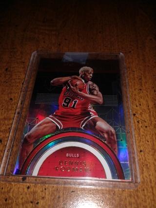 2 Card lot basketball, Dennis rodman, NBA veteran forward