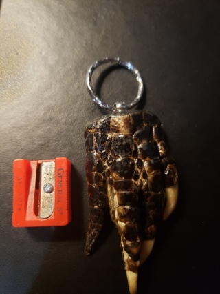 Handmade Alligator foot keychain