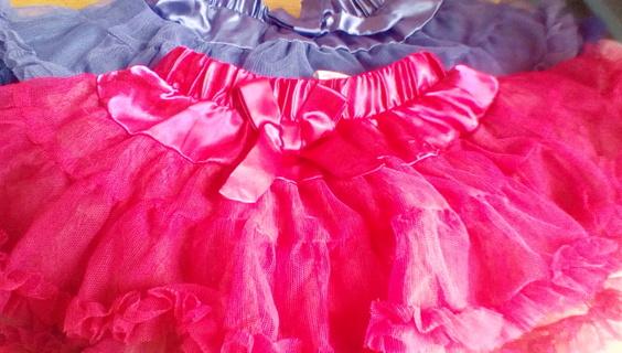 2 Cute Size (18) Months Layered Skirts: EUC