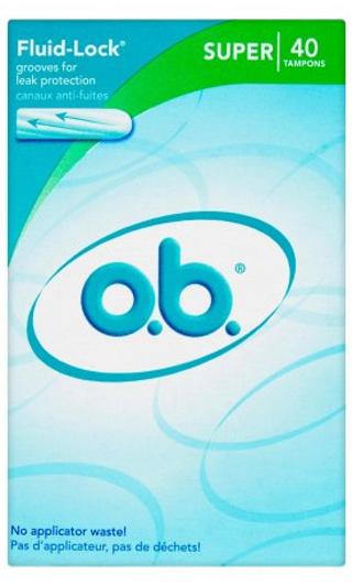 o.b. Fluid Lock Tampons 40pk