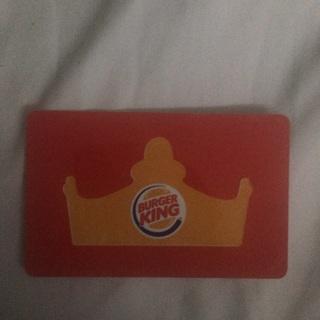$10 Burger King gift card