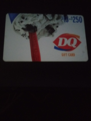 Dairy Queen 15 Dollar gift card