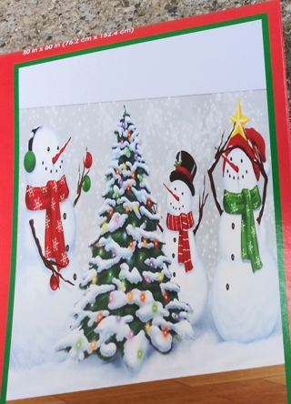 CHRISTMAS DOOR COVER DECORATION 30 INCHES X 60 INCHES LOT 1