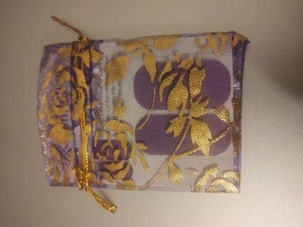 Jamberry Nail Wraps Pedi Pak - Mini-purple Chevrons