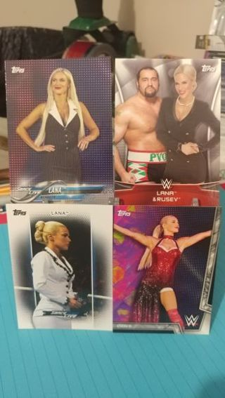 2016, 17, & 18 Topps WWE Women's Division Lana cards
