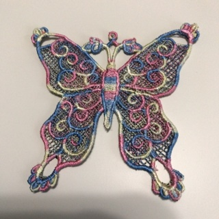 Handmade Butterfly Embroidered Applique
