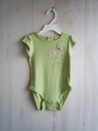 CHEROKEE BABY BRAND  NEW WITH TAGS 12MOS GREEN W BUTTER FLYS