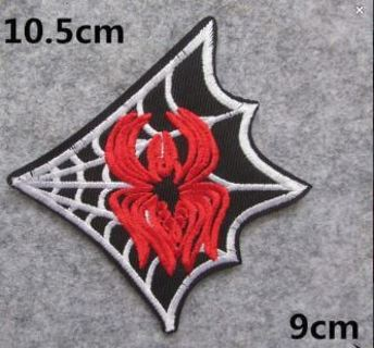 """1 SPIDER WEB Iron On Patch """"USA SELLER"""" EMBROIDERED ADHESIVE BADGE FREE SHIPPING"""