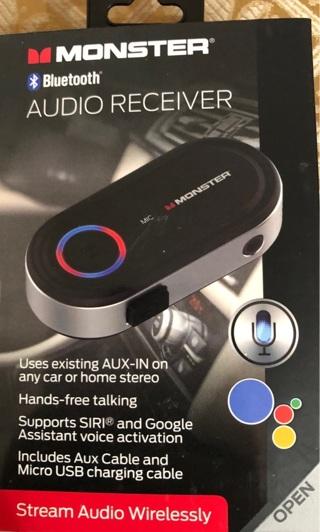 BNIB Monster Bluetooth Audio Receiver