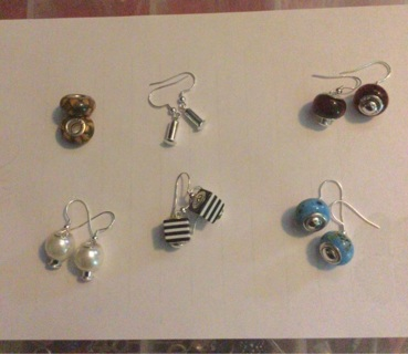 BN PANDORA STERLING SILVER EARRINGS