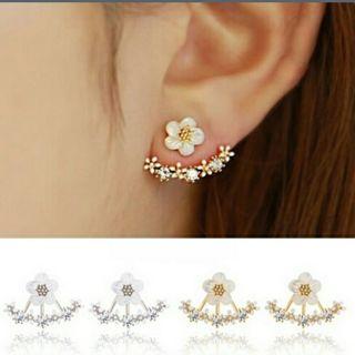 Crystal Stud Earrings Bouole d'oreille Femme 2016 Fashion Flower Earrings
