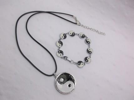Yin Yang Necklace & Bracelet