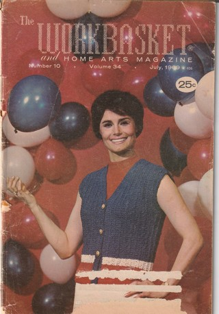 Workbasket Craft Book: Crochet, Knitting, Sewing, Patterns, How To: July 1969