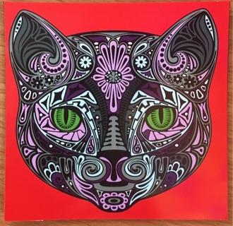 """CAT GRAPHIC - 4 x 4"""" MAGNET"""