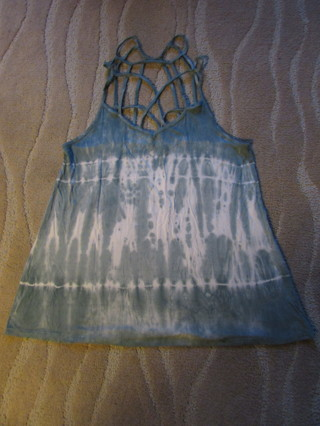 NWOT- AMERICAN EAGLE GREEN TIE DYED SZ L SUPER STRAPPY TANK