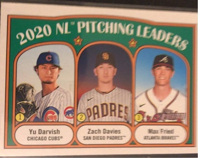 2021 Topps Heritage Pitching Leaders-Darvish/Davies/Fried #93