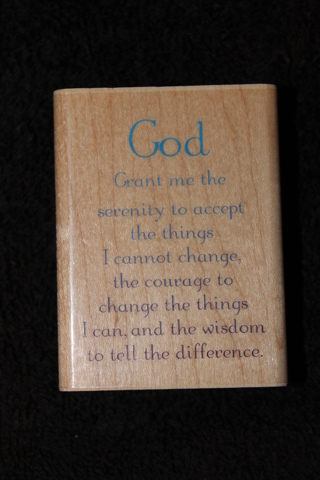 Free Serenity Prayer Rubber Stamp Scrapbooking Amp Paper