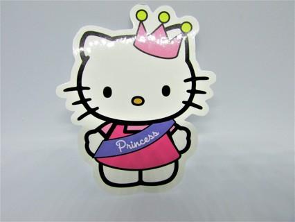 HELLO KITTY PRINCESS Vinyl Sticker- Helmet/Car/Skateboard/Business/Crafts
