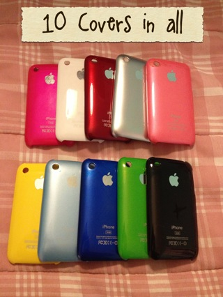 Lot of 10 iPhone 3/3s USED Covers